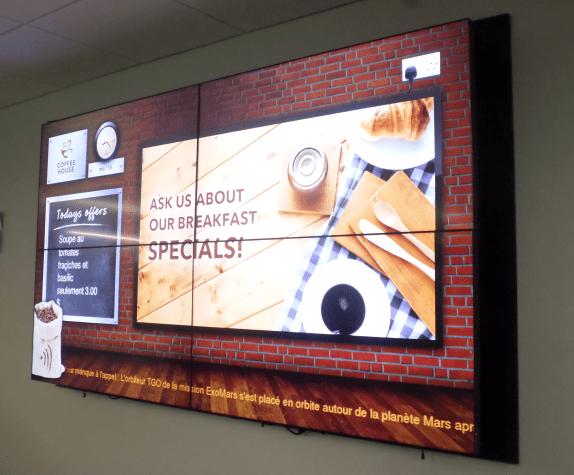 écran numérique dans les hôtels