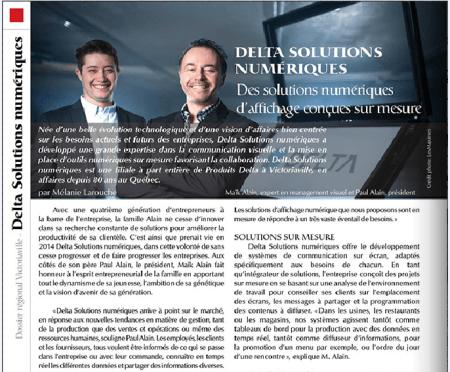 Le Magazine Québec Entreprise publie un article sur Delta Solutions Numériques.